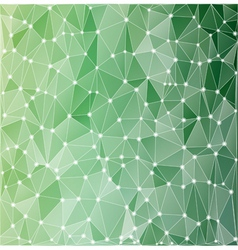Background polygonal green vector