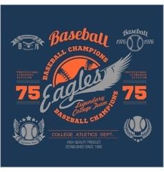 Baseball logo emblem badge and design elements vector