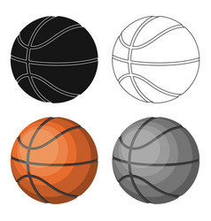 basketballbasketball single icon in cartoon style vector image