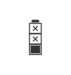battery empty icon flat vector image