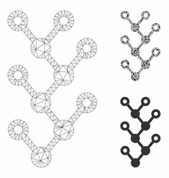 Binary tree mesh wire frame model and vector
