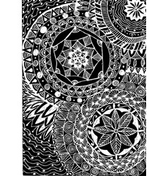 Black and white coloring floral tattoo artwork vector