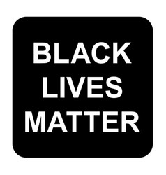 Black lives matter icon vector