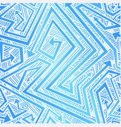 blue color tribal arrow seamless texture vector image