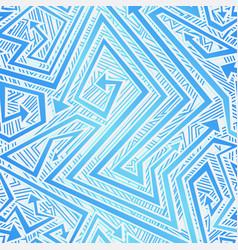 blue color tribal arrow seamless texture vector image