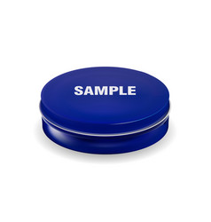 blue cosmetic package container for cream powder vector image