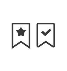 bookmark icon line outline art label vector image