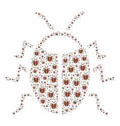 Bug icon composition vector