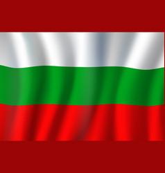 bulgaria republic national tricolor waving flag vector image