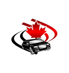 Car canada logo design template vector