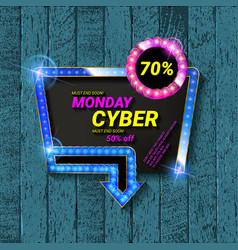 ccyber monday movie style banner vector image