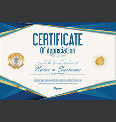 Certificate retro design template 3 vector