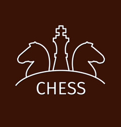 Chess business strategy logo vector