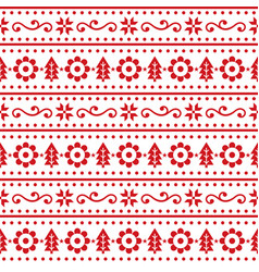 Christmas scandinavain folk art seamless pa vector