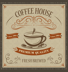 coffee house retro background premium quality vector image