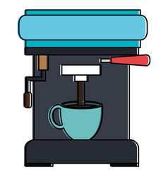 coffee machine isolated icon vector image