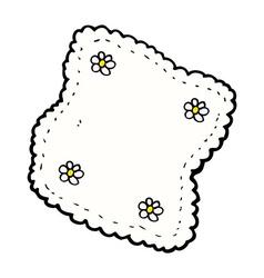 comic cartoon handkerchief vector image