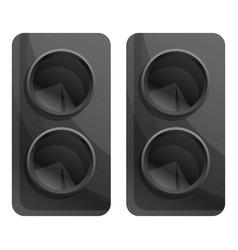Computer speakers icon cartoon style vector