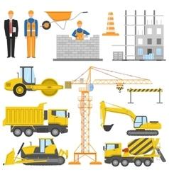Construction Flat Elements Set vector