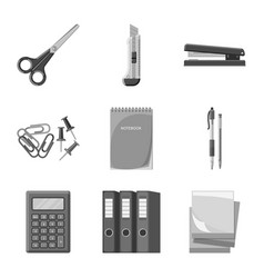 design of office and supply sign vector image