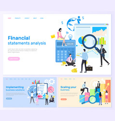financial statements analysis and solution web vector image