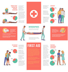 First aid emergency infographics vector