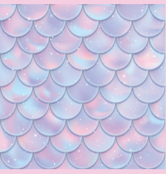 Fish scales seamless pattern mermaid tail texture vector
