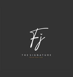 Fj initial letter handwriting and signature logo vector