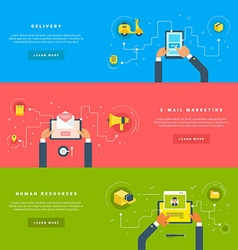 Flat Design Concepts for Web Banners and vector image
