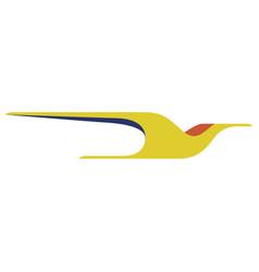 Flying bird figure icon vector