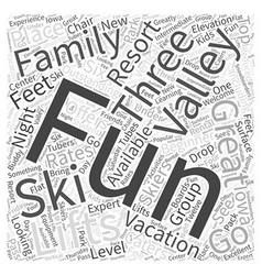 fun valley ski vacations Word Cloud Concept vector image