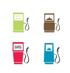 Gas pump icons vector