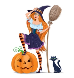 Halloween girl vector image