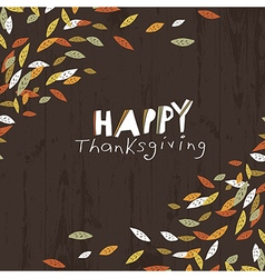 Happy Thanksgiving logotype Leaf Cut Letters For vector image