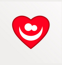 heart symbol of love and valentine s day flat vector image