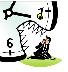 Hungry time vector image
