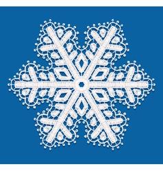Lacy snowflake vector