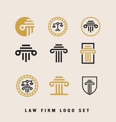 Law firm logo design template bundle vector