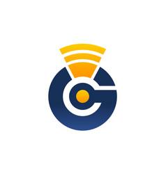Letter g modern symbol telecommunication vector