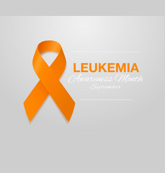 Leukemia awareness calligraphy poster design vector