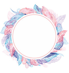 Light air romantic frame vector