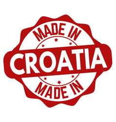 made in croatia sign or stamp vector image