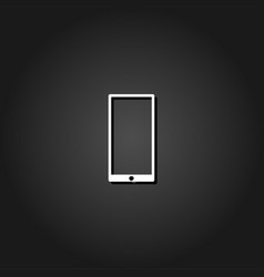 mobile gadget icon flat vector image