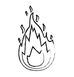 monochrome blurred silhouette of flame icon vector image