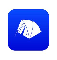 Mountain tent icon blue vector