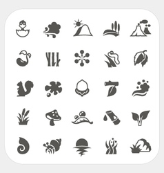 Nature icons set vector