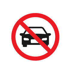no parking cars sign vector image