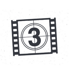 outline film strip part with countdown timer vector image