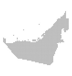 Pixel map of united arab emirates dotted map vector