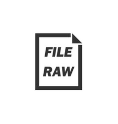 raw file icon flat vector image